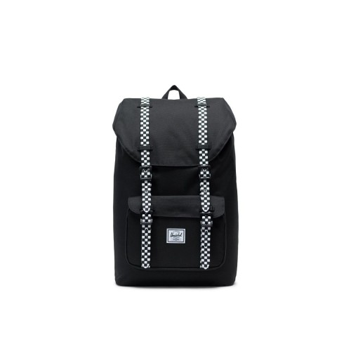 MOCHILA HERSCHEL LITTLE AMERICA MID-VOLUME BLACK/CHECKERBOARD