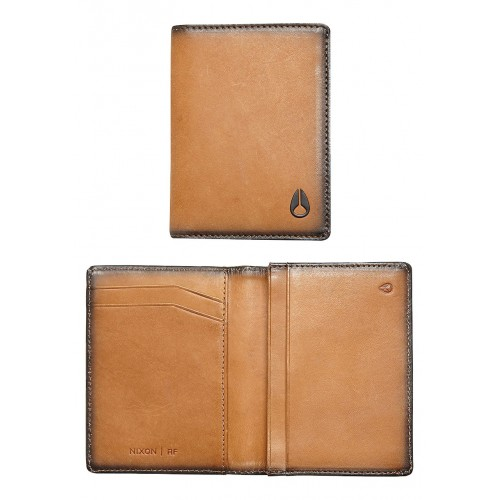 CARTERA NIXON RF CARD WALLET TAN